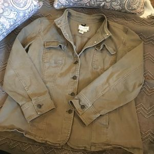 Plus Size Stiff Green Jacket